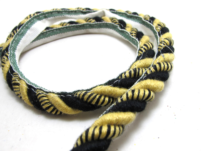 6mm Metallic Gold Rope Trimmings Upholstery Cushion satin rope Price per 6 Yards