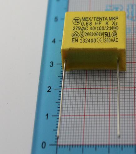 10PCS/LOT Safety Cap 275V 684K 0.68uf X2 Safety Capacitor 275V684K 15MM Polypropylene Film 275VAC Capacitors 275V684 Capacitance