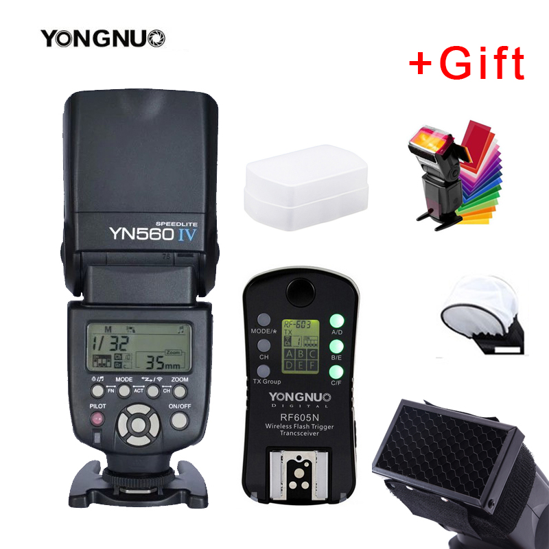 YONGNUO YN560 IV 2 4G Wireless Flash Speedlite RF605N Wireless Group Flash Trigger Transceiver for Nikon