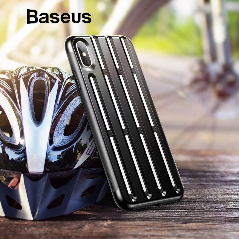 Baseus armadura caso para iPhone Xs Max XR 2018 de silicona suave de plástico híbrido teléfono caso para iPhone Xs Max XR cubierta