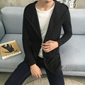 Men's Hooded Jacket Sweaters 2016 Autumn Solid Sweaters Knitted Cardigan Sweater For Young Man Casual Dress Cloak Size 4XL