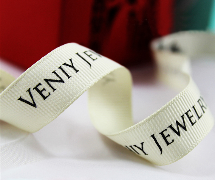 High Quality Customized Grosgrain Ribbons 6-75mm 100yards For Wedding / Party / Baby Shower Any Language And Design