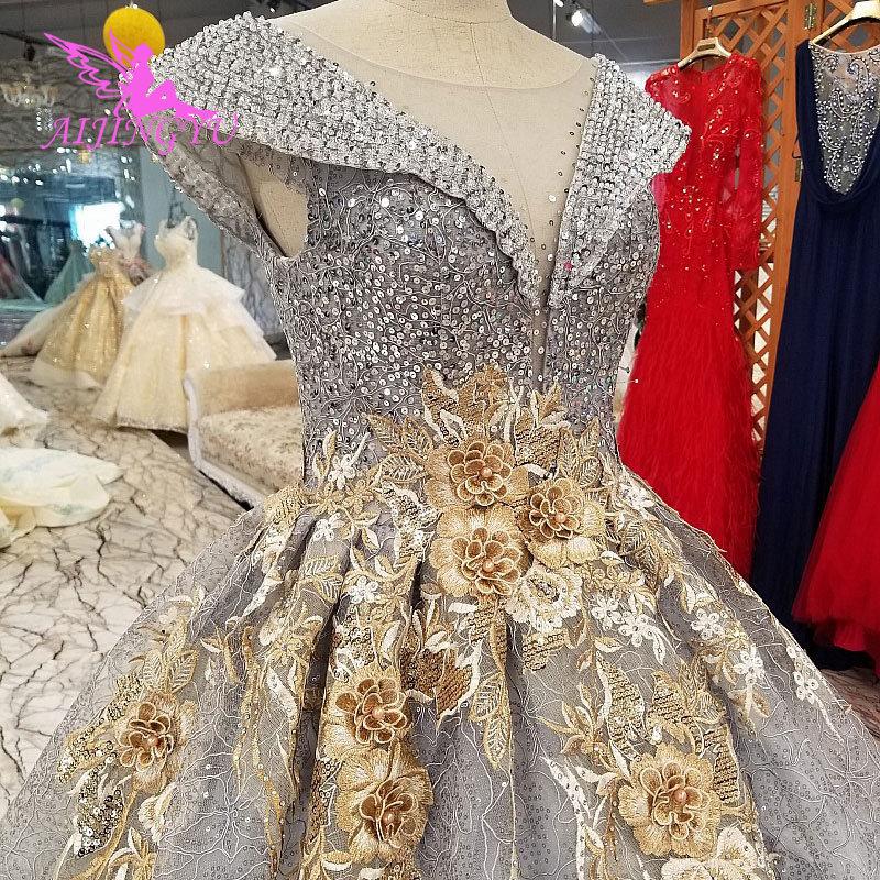 AIJINGYU Grecian Wedding Dress Custom Gowns Prices Ivory
