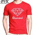 POPVISKEY marca t-shirt dos homens do diamante t shirts moda verão 2017 masculina Hip Hop camiseta de algodão O Pescoço dos homens de manga curta tops tees