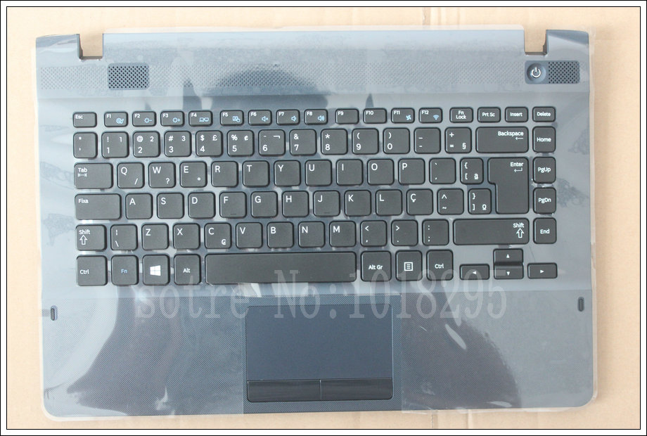 new For samsung NP270E4E NP300E4E NP270E4V NP275E4V BR Brazil  laptop keyboard with ASH BLACK case Touchpad BA75-04583P