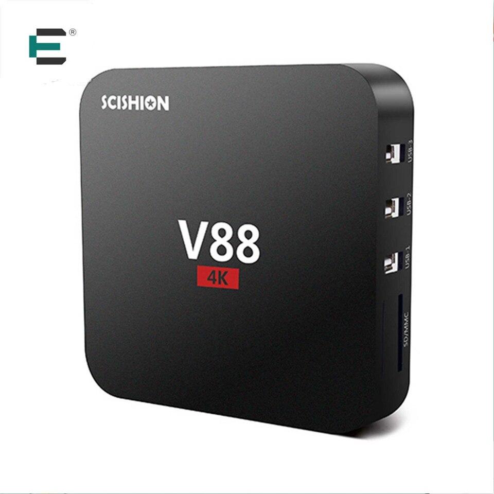Rockchip 3229 Quad Core 4 K kodi 16.1 V88 smart TV box android 5.1 reproductor m