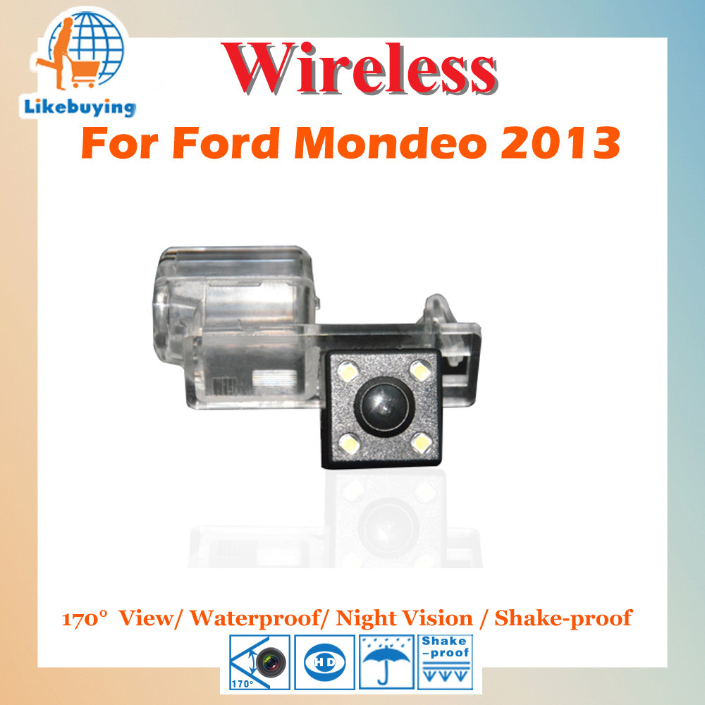 Reverse Parking Camera Wireless 1 4 Color CCD Rear View Camera For Ford Mondeo 2013 Night
