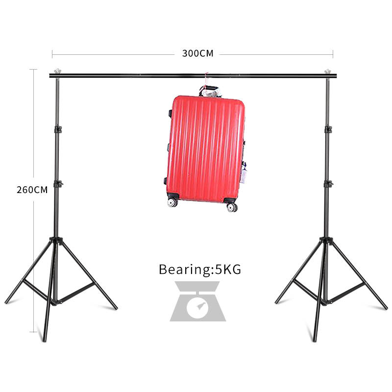 Background Frame System Stands Studio With Carry Bag 2.6*3M/8.5ft*10ft Photo Studio Aluminum Backdrop Support