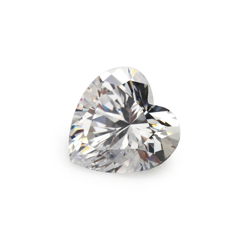 Μέγεθος 3x3-12x12mm σχήμα καρδιάς 5A λευκό - Κοσμήματα μόδας - Φωτογραφία 5