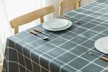 Free waterproof pvc tablecloth, printed European-style decorative oil-proof and anti-hot home dining tablecloth