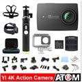 Versión internacional! original xiaomi yi 4 k acción cámara ambarella a9se xiaoyi 2 cámara de los deportes