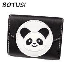 Кошелек ручной работы botusi с вышивкой в виде панды из искусственной