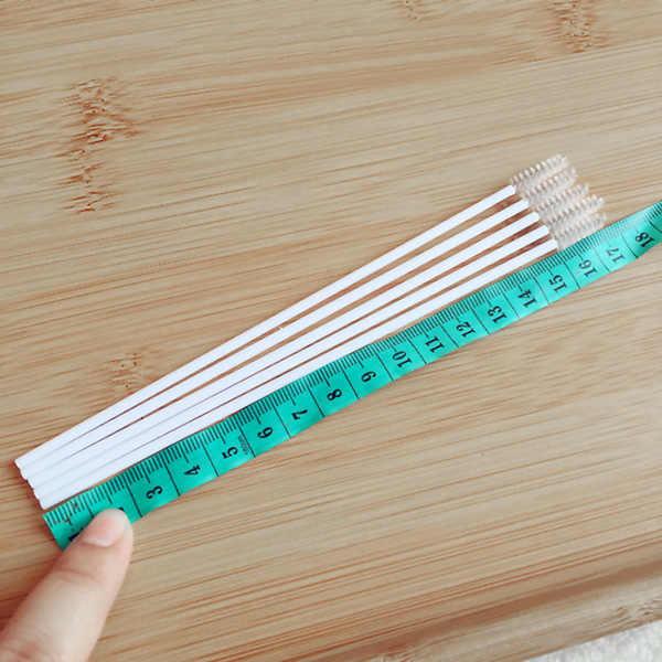 10 pçs/lote Portátil Conveniente Bebê Palhas de Aço Inoxidável Escovas de Limpeza Escova de Escova de Garrafa Tubos de Ensaio HYD88