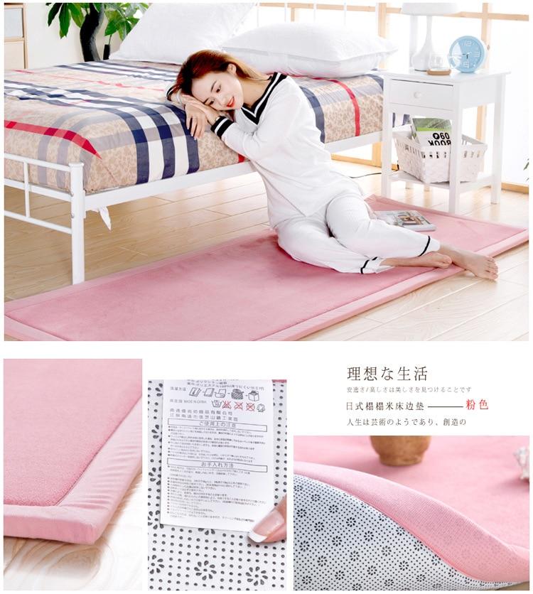 Baby Play Mat Coral Velvet Antiskid Design Crawling Mat  Baby Carpet Mat for Children Game Pad Super Soft Comfortable Playmat  (2)