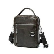 Fashion Men's Bag 100% Genuine Leather Men Messenger Bags Dark Coffee Color CrossBody Cow Leather Man Shoulder Bags #VP-L9023