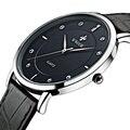 2016 Homens Relógios de Luxo Da Marca Ultra Fino Completo Couro Genuíno Relógio Masculino Relógio À Prova D' Água Relógio Do Esporte Dos Homens de Pulso de Quartzo Ocasional