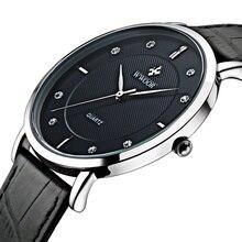2016 Marque De Luxe Hommes Montres Ultra Mince Plein Véritable En Cuir Horloge Mâle Étanche Casual Sport Montre Hommes Quartz Montre-Bracelet