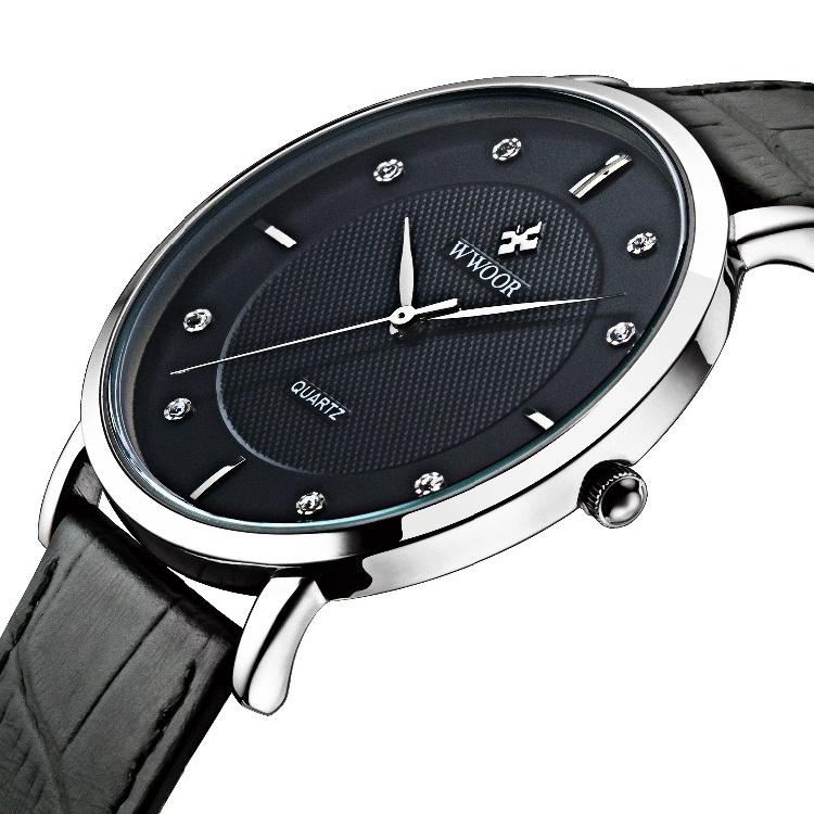 Prix pour 2016 Marque De Luxe Hommes Montres Ultra Mince Plein Véritable En Cuir Horloge Mâle Étanche Casual Sport Montre Hommes Quartz Montre-Bracelet