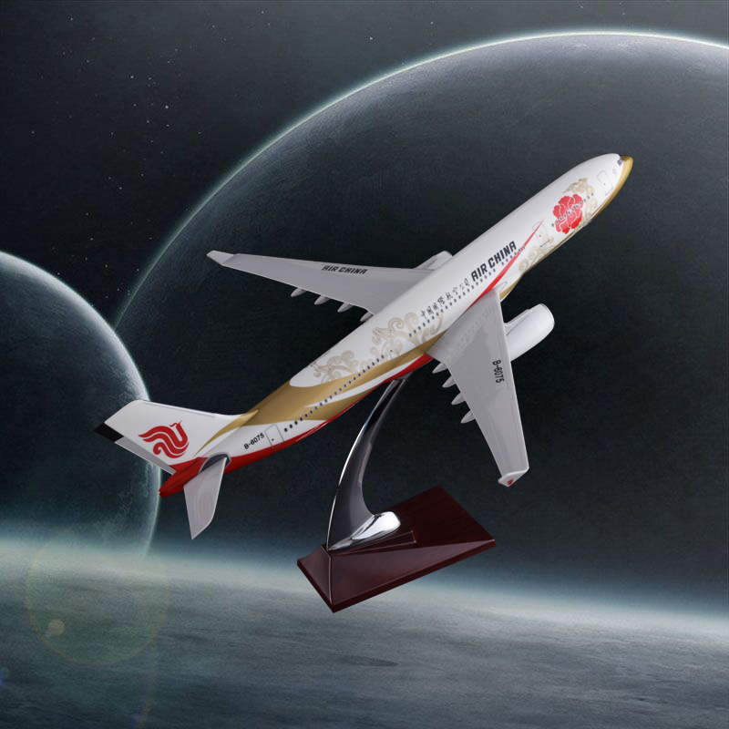 32cm A330 Air China Resin Airbus Model Purple Gold Airlines Airplane Model Decoration Aircrafts Plane Airways Model купить