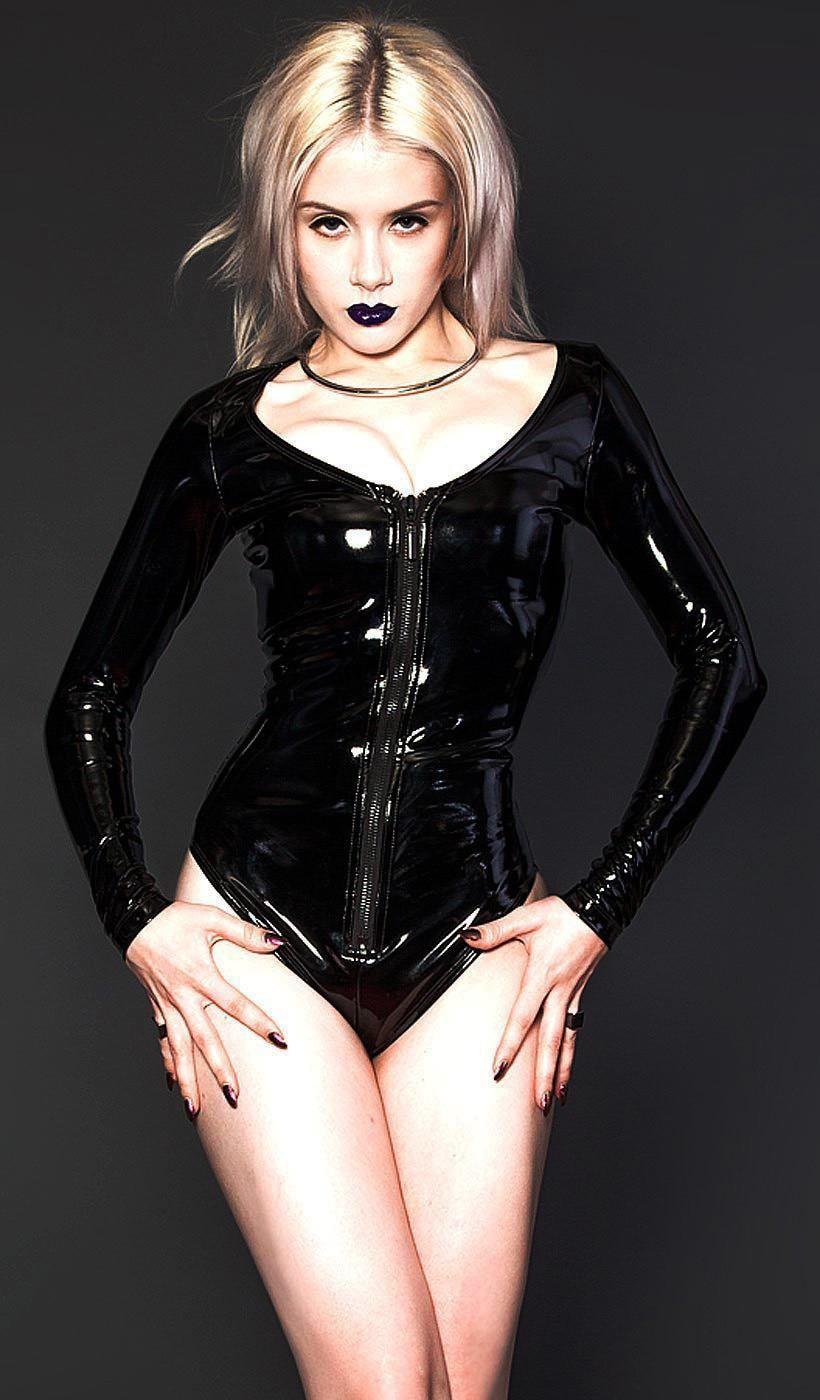 07c7c26c1bab M-XXL Men Sexy Black PU Leather Bodysuit Open Crotch Erotic Latex Catsuit  Bodycon Fetish PVC ...