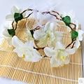 Flower Headband Crown Set Flower Headpiece Wedding Hair Accessories Floral Crown Wedding Head Wreath White Flower Crown