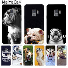 MaiYaCa Cute dog english bulldog Phone Cover Funny Letter Cases for Samsung S9 S9 plus S5 S6 S6edge S6plus S7 S7edge S8 S8plus(China)