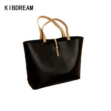 KIBDREAM 2016 Large Capacity Leather Tote Bag Handbag Women Casual Handbags Female Single Shoulder Hand Bag