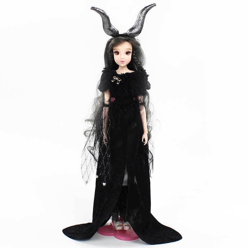 1/6 BJD Steinbock MMGirl 12 Konstellationen Serie Sammlung 14 Joint Körper mit Schwarz Outfit und Puppe Stehen