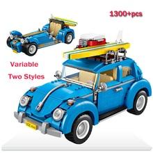 LWKO Mini Bloco de Campeões de Corrida Modelo de Carro Besouro Velocidade Variável 2 EM 1 Legoe Bricks Blocos Crianças Brinquedos Para presente das crianças