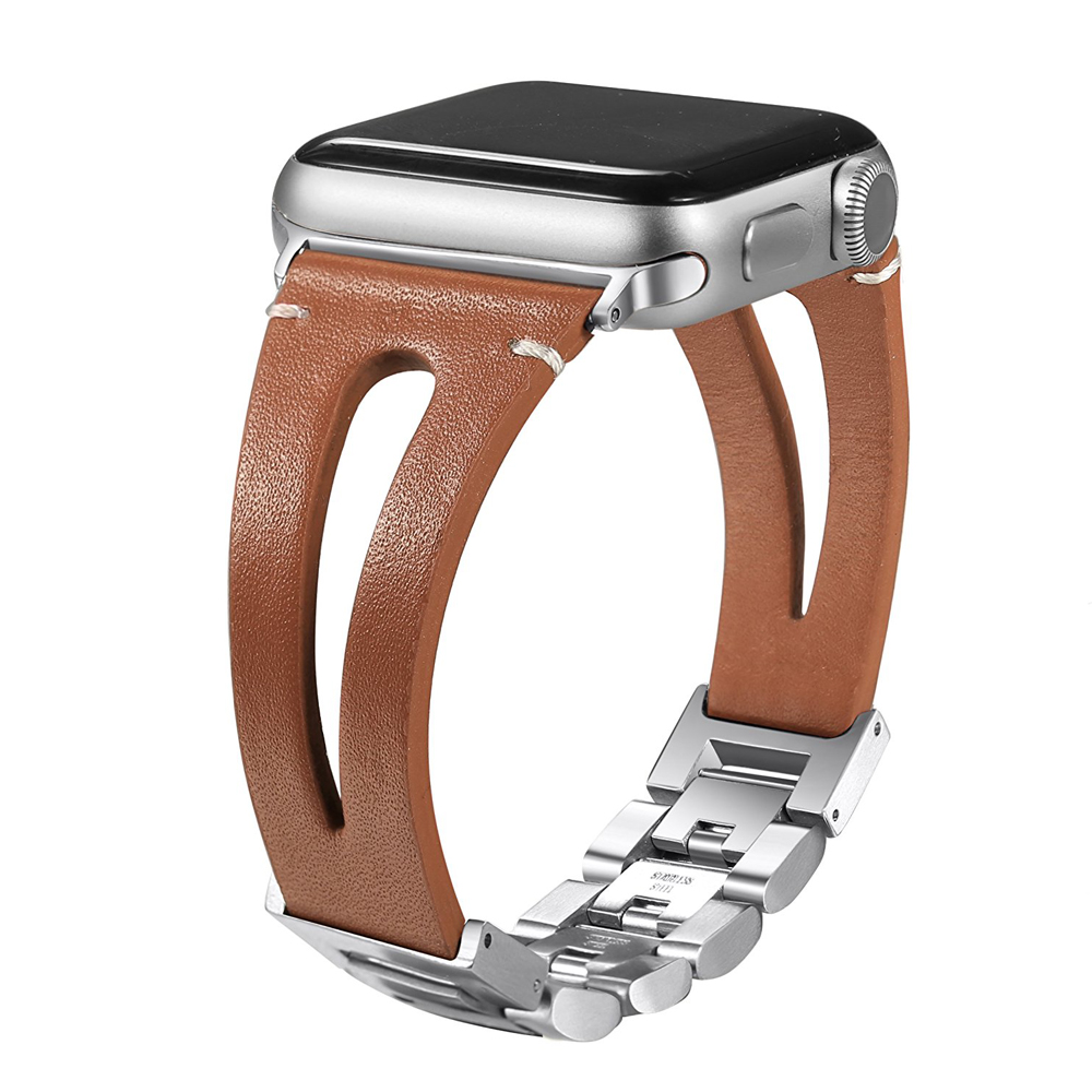 Echtes leder strap Für Apple uhr band 4 44mm/40mm iwatch 3 band 42mm/38mm armband uhr correa gürtel armband metall schnalle