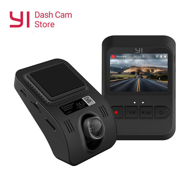 Yi mini câmera traço versão internacional preto dvr carro cam140 lente ultra grande-angular 1080p 30fps design discreto 2.0 tela lcd