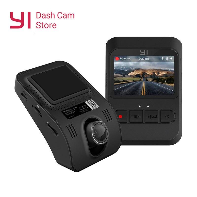 YI Mini Dash Kamera Internationalen Version Schwarz DVR Auto Cam140 Ultra weitwinkel objektiv 1080p 30fps Diskret Design 2,0 LCD Bildschirm