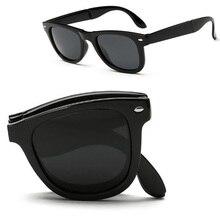 Plegable 2016 de la moda gafas de sol polarizadas de Luz Portátil Plegable compras polaroid UV400 diseñador gafas de sol de conducción Al Aire Libre