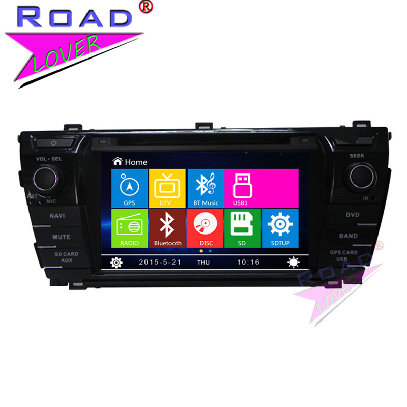 TOPNAVI Wince 6.0 Two Din 7Inch Car Media Center DVD Auto Player For Toyota Corolla 2014- Stereo GPS Navigation Audio TFT Touch