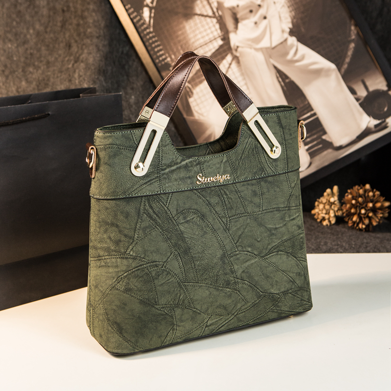 New retro ladies office work shoulder tote clutch soft split leather women handbags famous brands designer high quality bag sac 2018 new designer retro genuine leather bags handbags women famous brands ladies office work bag messenger clutch bolsa feminina