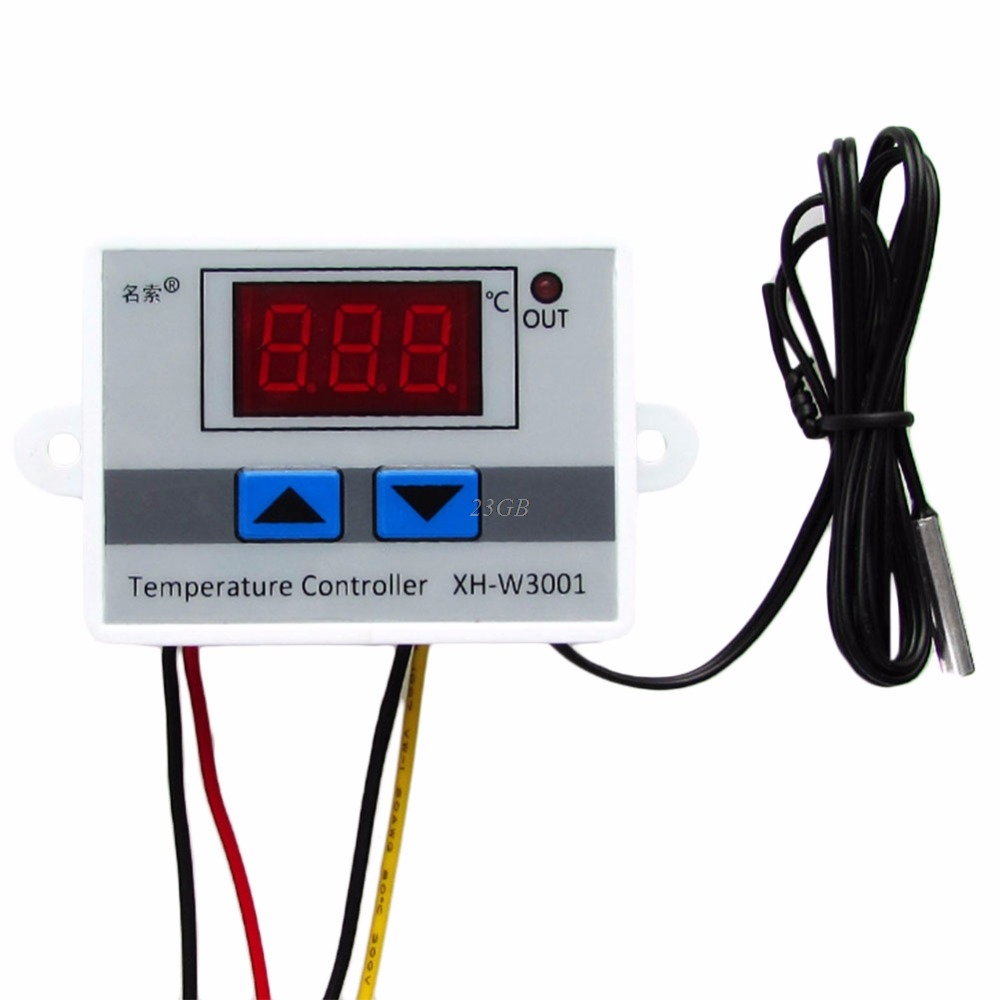 2017 Digital LED Temperature Controller Thermostat Control Switch Probe 220V 10A MAY09_25 1x 220v 16a thermostat knob refrigerator temperature switch controller probe