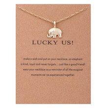Vintage Animal Gold Card Lucky US Elephant Bar Owl Skull Necklaces Necklace Pendants Women Girl Best Gift for friends Jewelry худи print bar skull owl