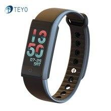 Teyo Smart Band красочные Экран сердечного ритма Приборы для измерения артериального давления умный Браслет Фитнес трекер наручные Смарт часы для Android и IOS