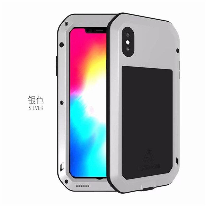 1 шт. чехол для iPhone Xs максимально сверхпрочный защиты Броня металлический Алюминий противоударный пылезащитный чехол для iPhone X XR Xs Max - Цвет: Silver