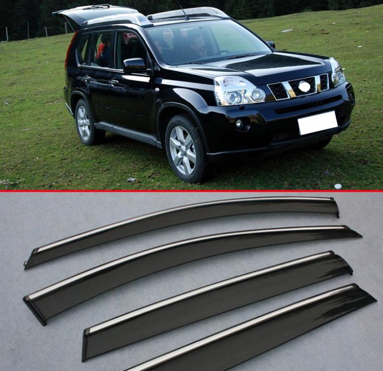 For Nissan X-Trail 2008 2009 2010 2011 2012 2013 Window Wind Deflector Visor  Rain Sun Guard Vent 4p f7e7237b851