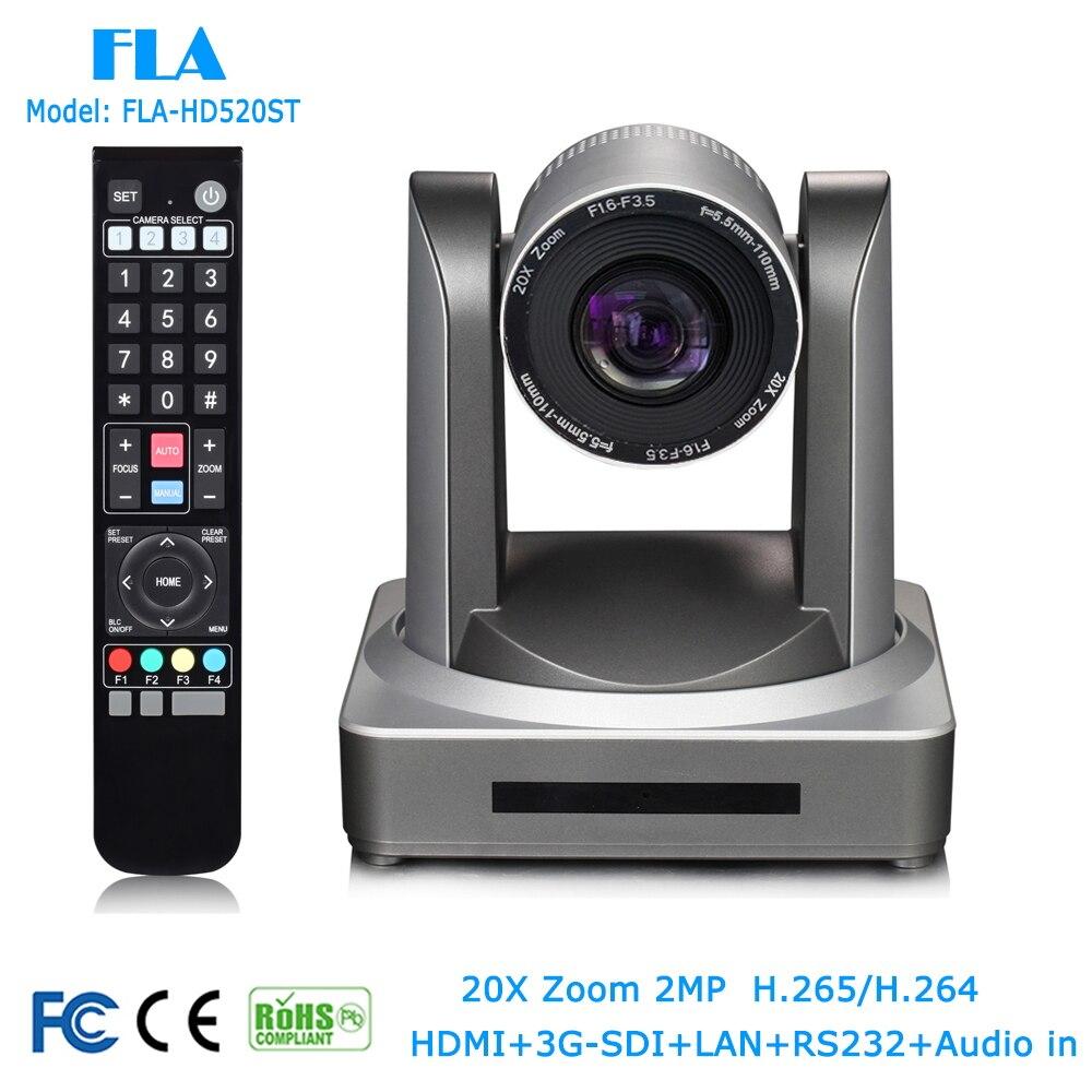 Caméra de réunion de vidéoconférence 2MP 1080 P HDSDI 3G-SDI LAN 20X HD Onvif pour téléformation, système de Surveillance de télémédecine