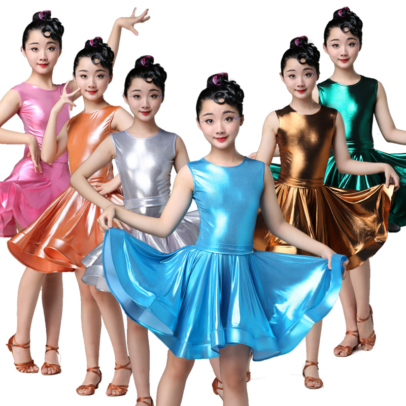 Girls Latin Dance Skirt Children's New Style Exercise Clothes Competition Performance Costume Latin Competition Dress For Girls