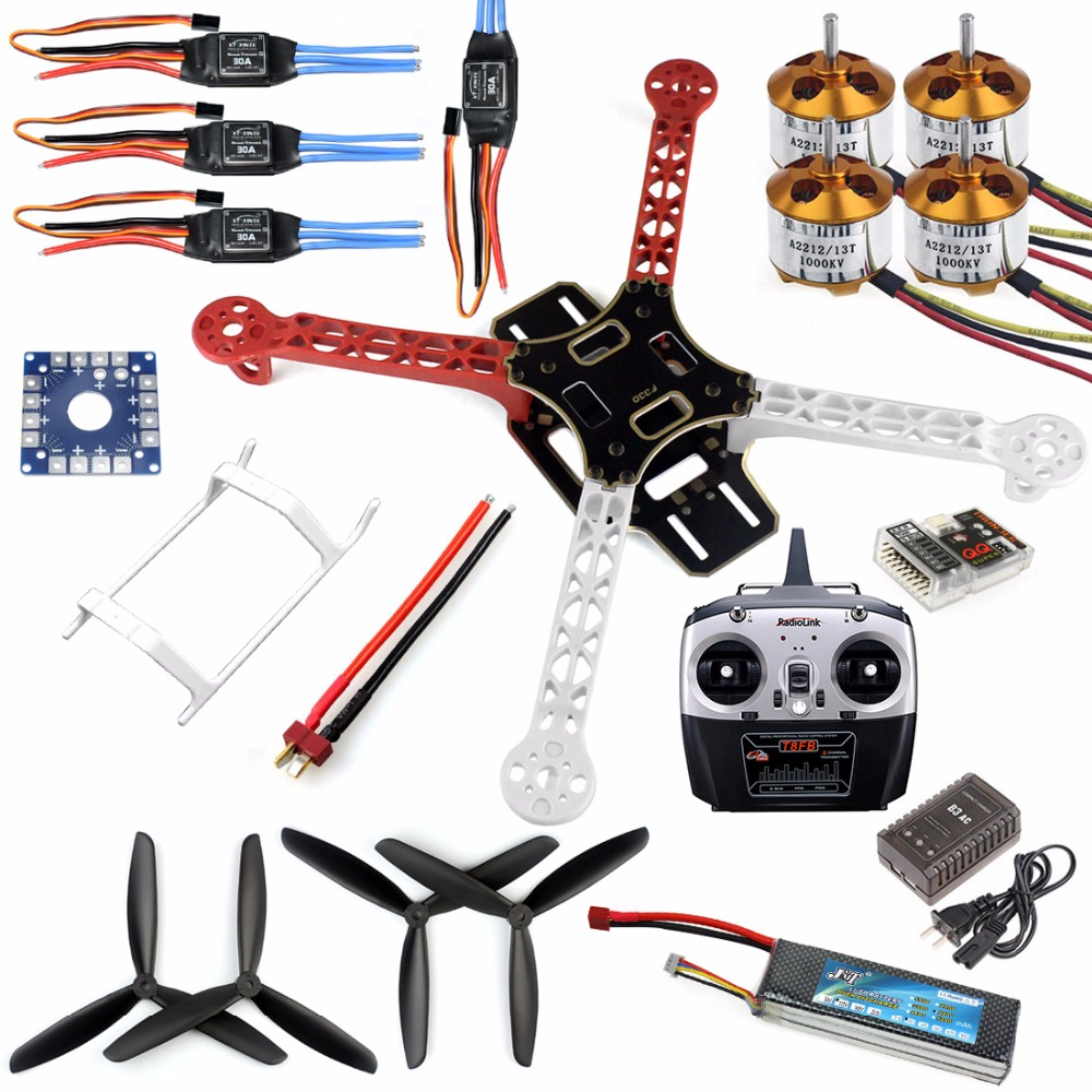 F330 Airframe MultiCopter Frame Flame Wheel kit RTF Kit with Radiolink 8CH TX&RX Welded ESC Motor