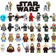 Figurine Star Plan Yoda Luke Anakin Skywalker Han Solo Rey Ewok Warrior Darth Vader Figurines Toys for Children Legoing Figurine(China)