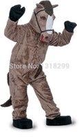 Талисман коричневая лошадь костюм талисмана необычные платья пользовательские фантазии костюм косплей комплекты mascotte тема карнавальных к