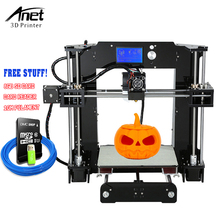 Anet A6  impresora 3d Printer High-precision Reprap i3 3D Printing Easy Assemble 3D printer Kit DIY With Free Filament +Tools anet a9 3d printer easy assemble with metal plate aluminum frame high precision imprimante 3d diy kit with pla abs filament