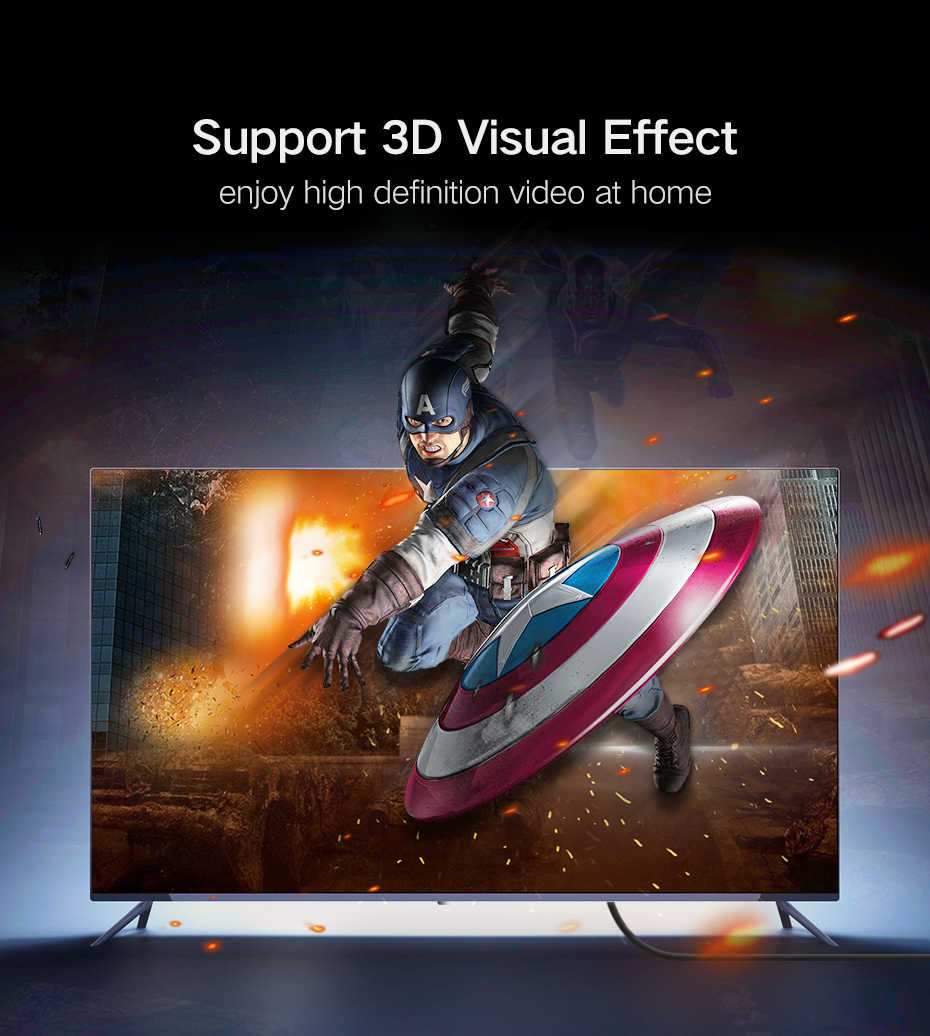HDMI ケーブル組紐超高速ゴールドメッキコネクタイーサネット & オーディオリターンビデオ HD 1080 p 3D