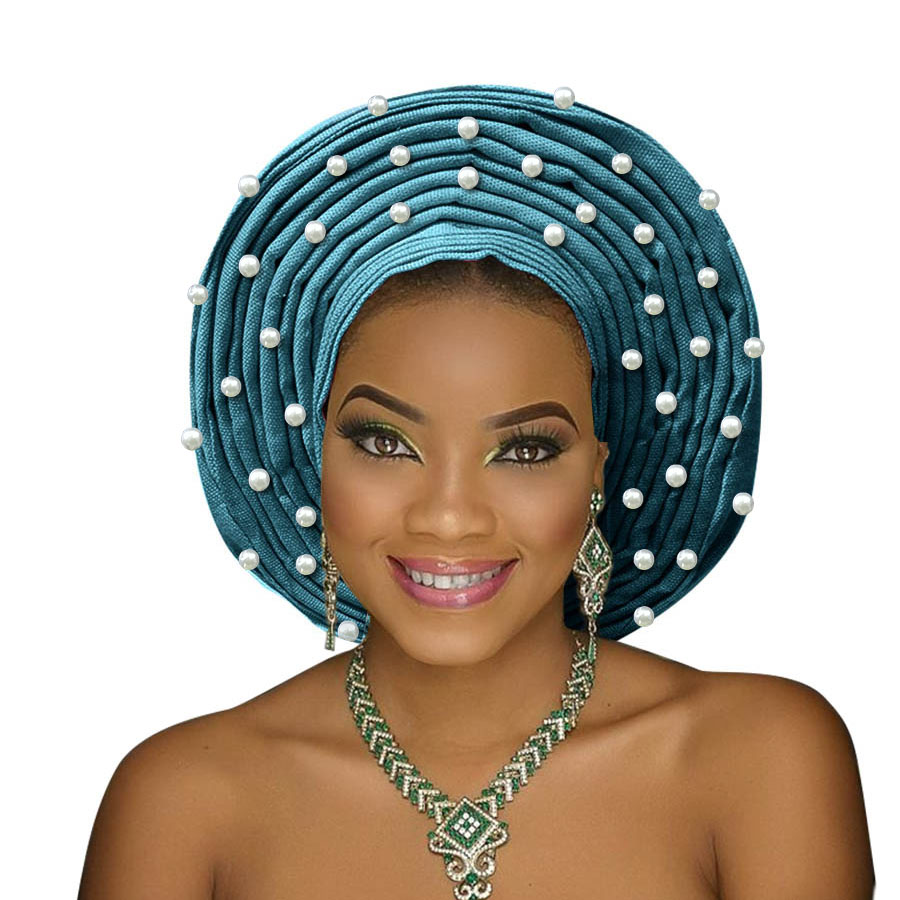 african headtie aso oke gele headtie african head wrap fashion nigerian aso ebi gele turban women aso oke head gear (4)
