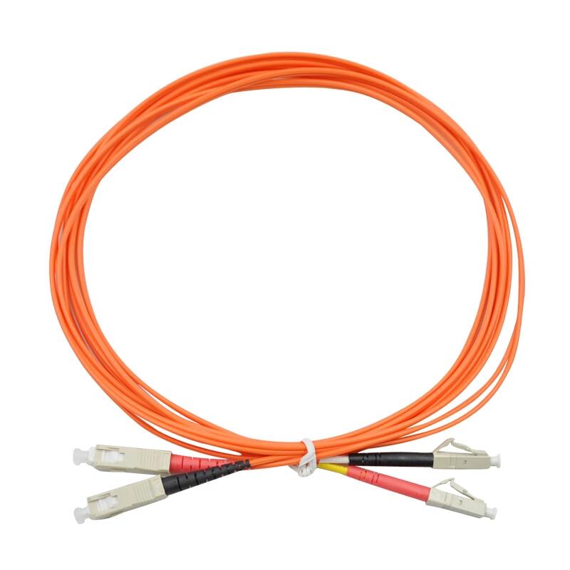 100 Mètre LC-SC Fiber Optique Câble MultiMode Duplex Patch Cordon OM1 62.5/125 100 M