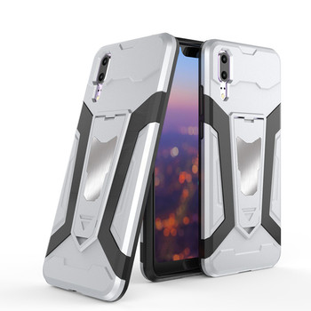 Armor phone cover huawei P20 heavy shockproof magnetic stand case
